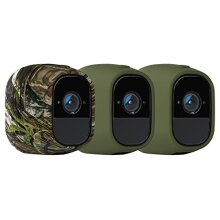 Arlo Certified Accessory, VMA4200 Skins and 1 Camouflage, Designed for Arlo Pro / Pro2 Wireless Wi-Fi Security Cameras, Green/Camouflage, Set of 2