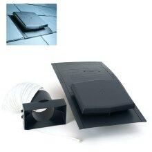 10K Slate Roof Tile Vent & Adapter Kit for Extractor fans, Soil Pipes