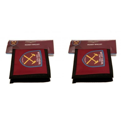 2 x West Ham New Badge Wallets - West Ham Wallets - Christmas Gift