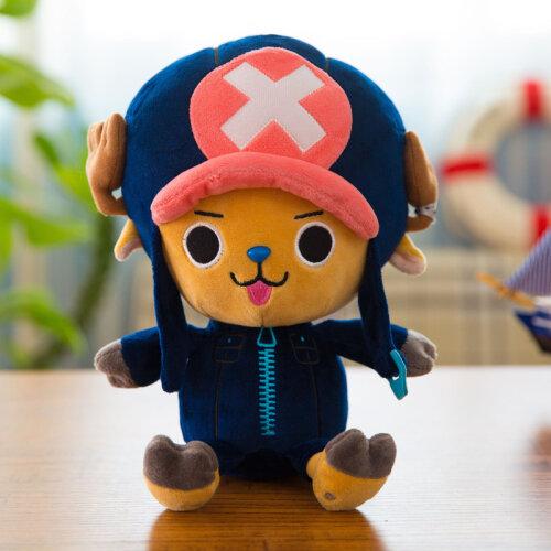 (40cm, Blue Choba) One Piece Plush Toy Luffy Doll Choba Birthday Gift