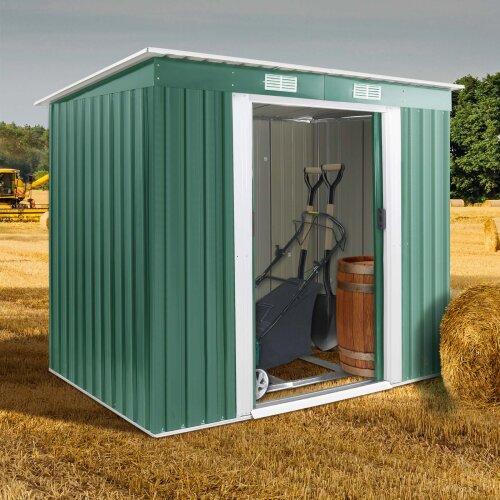 (Green) Metal Garden Storage Shed