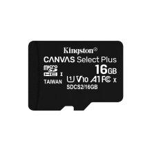 Kingston Technology Canvas Select Plus memory card 16 GB MicroSDHC Class 10 UHS-I