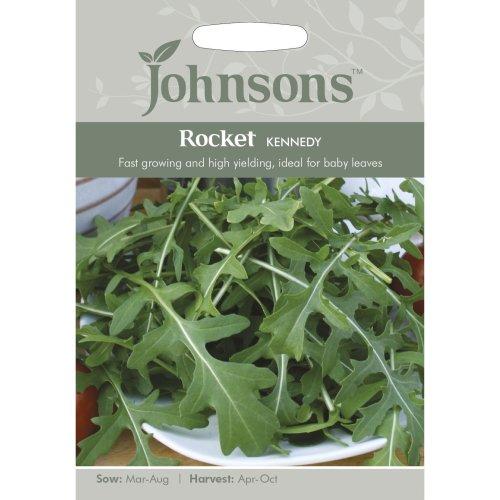 Johnsons Seeds - Pictorial Pack - Vegetable - Rocket Kennedy - 500 Seeds