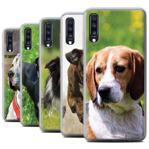 Popular Dog/Canine Breeds Samsung Galaxy A70 2019 Phone Case Transparent Clear Ultra Soft Flexi Silicone Gel/TPU Bumper Cover