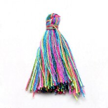 Silky Cotton Tassels Mixed-Colour 3cm Pack Of 10