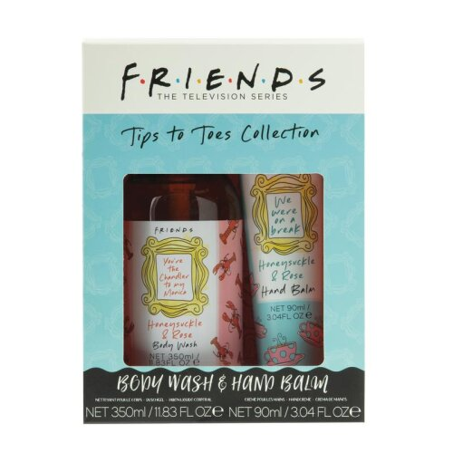 Friends Tips to Toes Collection Sweet Floral Body Wash 350ml Hand Balm 90ml