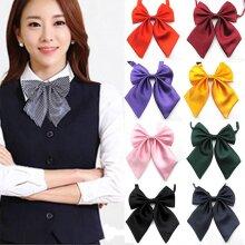 Women Tie Red, Butterfly Women,s Bow, Knot Female, Girl Student, Hotel Clerk, Waitress Neck Wear Ribbon Ties