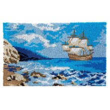 Sail Boat Rug Latch Hooking Kit (85x58cm)