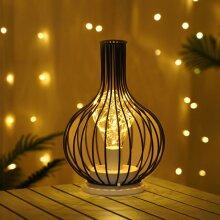 Retro Lamp Geometric Wire Industrial LED Light Bulb Bedside Desk Light