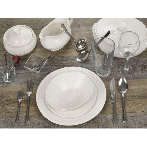 42 PCS Dinner Set | Porcelain Bowl Plates & Cutlery