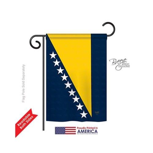 Breeze Decor 58193 Bosnia & Herzegovina 2-Sided Impression Garden Flag - 13 x 18.5 in.