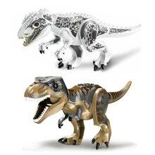 2Pcs Large Dinosaur Figure Big Size Indominus T Rex Blocks Lego Toys