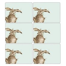 Wrendale Hare Placemats - Set of 6