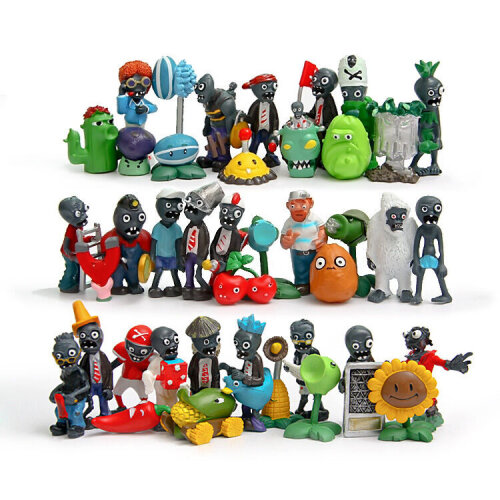 40pcs Plants vs Zombies Toys Action Figures Gift
