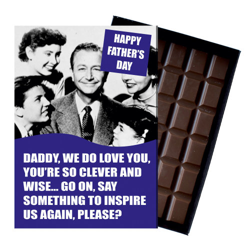 Funny Fathers Day Gift For Dad Boxed Chocolate Present from Son Daughter
