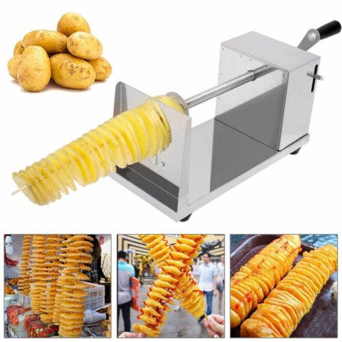 Tornado Vegetable PotatoMachine Spiral Potato Chips Twister Cutter BBQ
