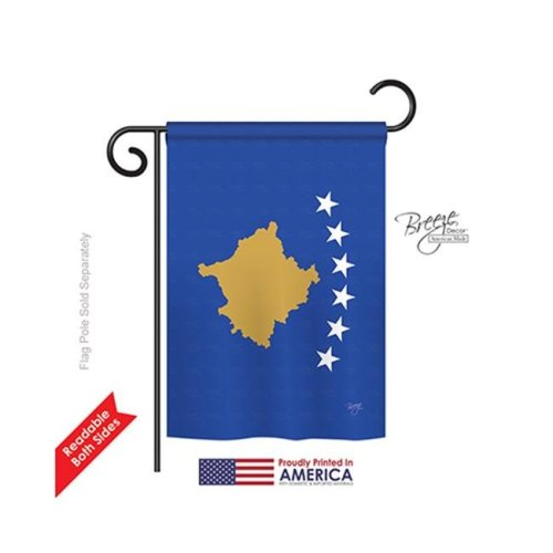 Breeze Decor 58373 Kosovo 2-Sided Impression Garden Flag - 13 x 18.5 in.