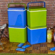 Large 32L Cooler Boxes | Plastic Green or Blue Bag