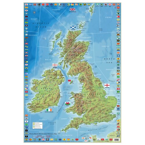 (A2-Paper Format) UK and Ireland Map