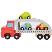 jumini Children's Wooden Pull Along Car Carrier
