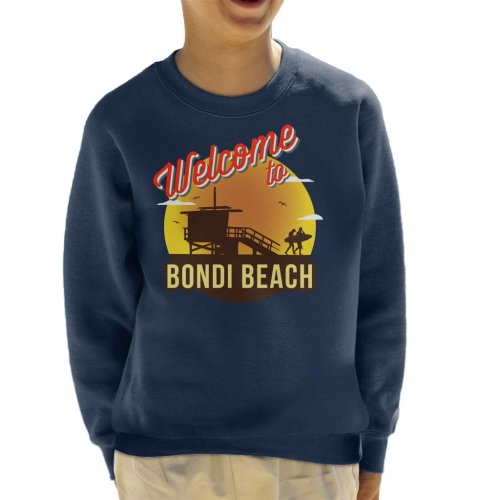 Welcome To Bondi Beach Retro Kid's Sweatshirt