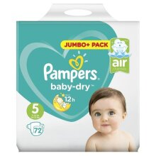 72 Pampers Baby Dry Nappies  ~  Size 5  ~  11-16kg