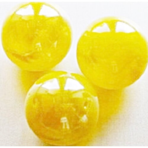 100 Solid Yellow Glass Marbles 16mm