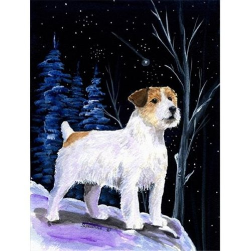 Starry Night Jack Russell Terrier Flag - Garden Size, 11 x 15 in.