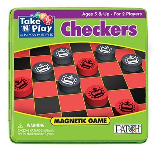 Playmonster PAT671 6.75 in. Take N Play Anywhere Games Checkers