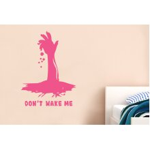 Dont Wake Me Wall Stickers Art Decals - Medium (Height 57cm x Width 42cm) Pink