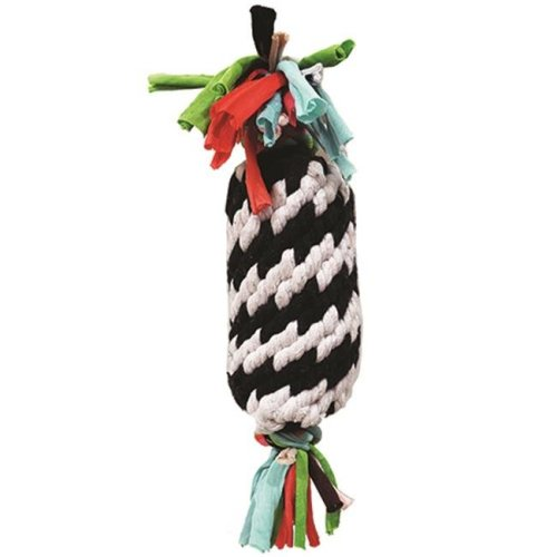 Super Rope Gummer with Squeaker Dog Toy, 11 in.