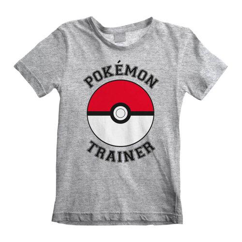 Children's Pokemon Trainer Grey T-Shirt