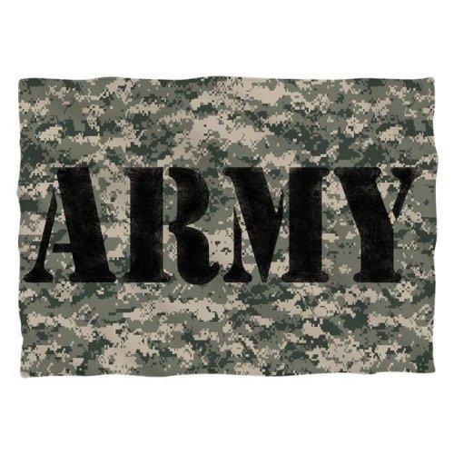 Army & Camo-Pillow Case, White - 20 x 28 in.