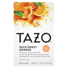 Tazo Wild Sweet Orange, 20 Tea Bags Herbal Tea, 1 Box Individual Bags