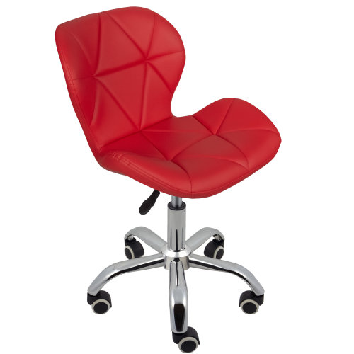 (Red) Charles Jacobs Cushioned Swivel Office Chair