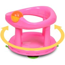Safety 1st Swivel Bath Safety Support Seat Shaped Backrest month Pink