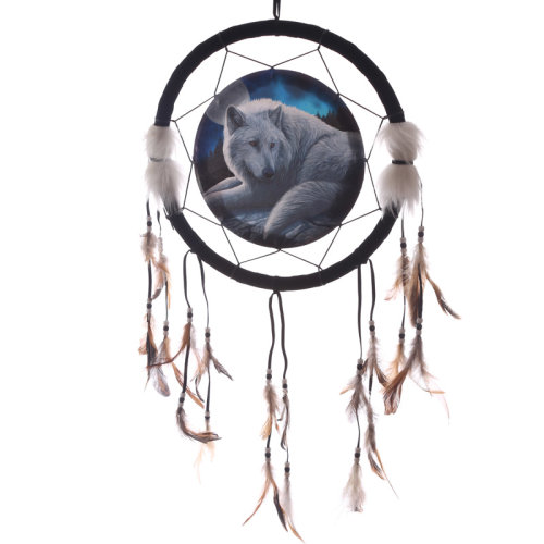 Decorative Guardian Wolf 33cm Dreamcatcher
