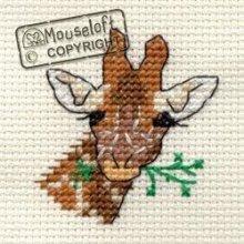Mouseloft Mini Cross Stitch Kit - Giraffe, Stitchlets Collection