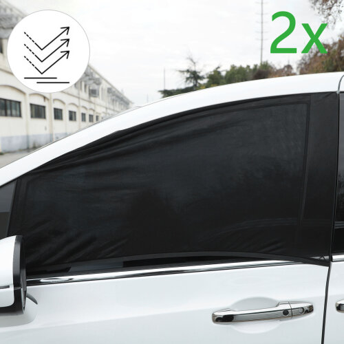 2X Universal Car Rear Window Sun Shade Blind Mesh Cover Screen