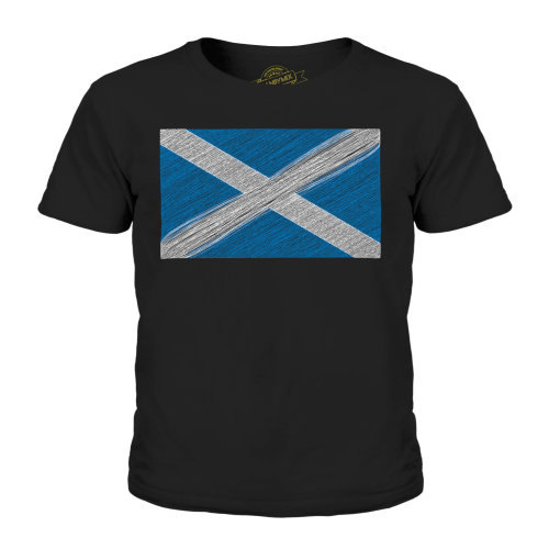 Candymix - Scotland Scribble Flag - Unisex Kid's T-Shirt