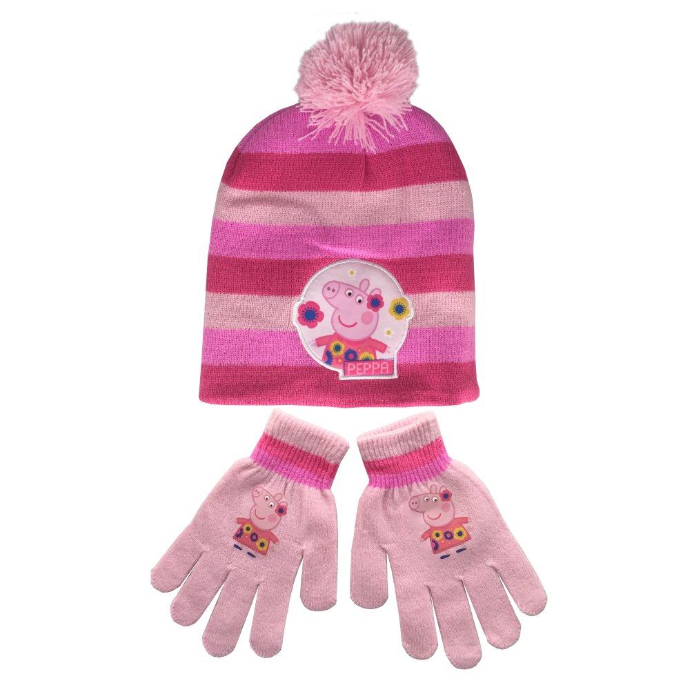 Peppa Pig Girls Peppa Pig Hat and Gloves Set
