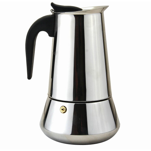 10 Cups Stainless Steel Espresso Ground Coffee Maker Flip Top Moka Pot Induction