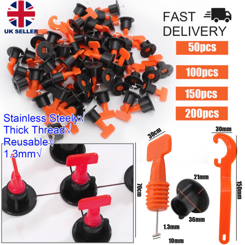 160X Floor Wall Tile Leveler Tools Reusable Tile Spacers Levelling System UK