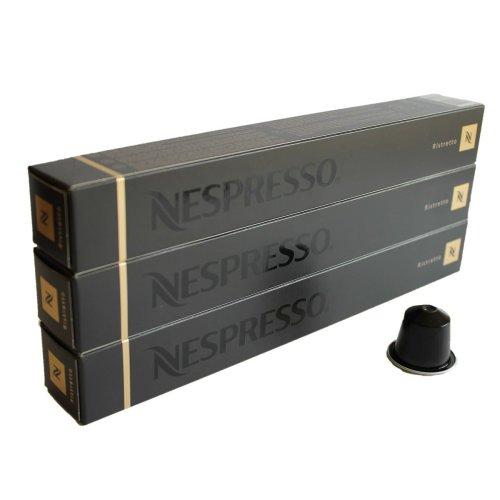 Nespresso Capsules Black Black - 30 x Ristretto - Original Nestle - Espresso Cafe - Assorte