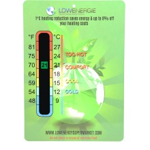 Thermometer Temperature Eco Card LCD Laminated Baby Nursery Room Energy Saving