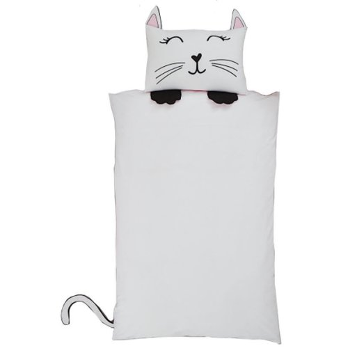 Cat Shaped Single Bedding