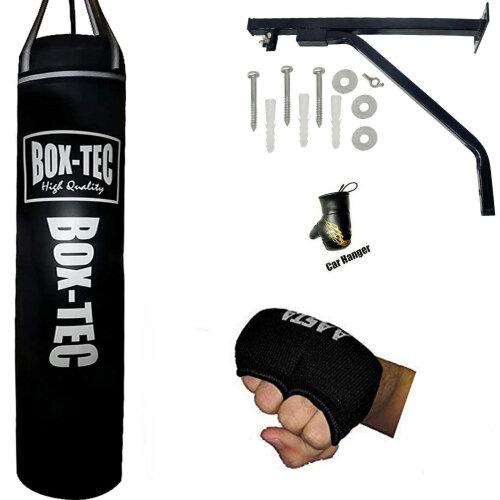 4ft Filled Hanging Punching Bag   Boxing Set