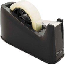 HeavyDuty Tape Dispenser Office Desk Large Roll Non Slip, Black