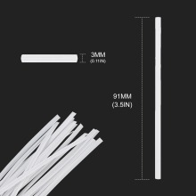 Flexible Plastic Nose Bridge Strips - Sewing Clips 91mm Bendable Adjustable Flat Nose Clip for Sewing Mask
