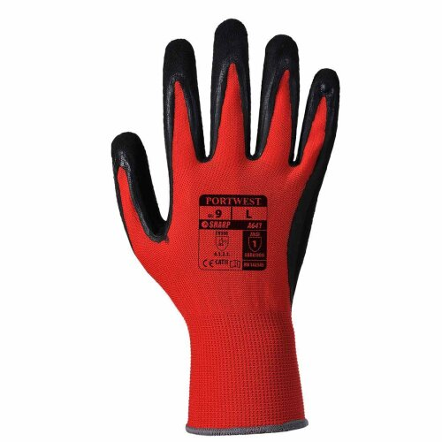 sUw - 6 Pr Pk Red Cut Resistant Hand Protection Glove Level 1 Red XXL